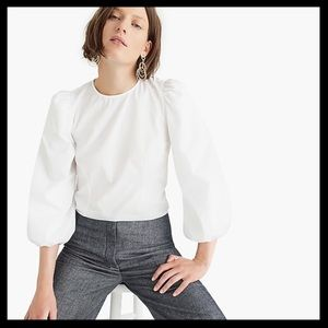 Thomas Mason for J.Crew Bubble Sleeve Top